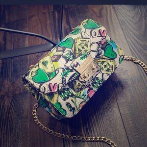 Handbags - Jasper Graphic Handbag w/ Gold Chain